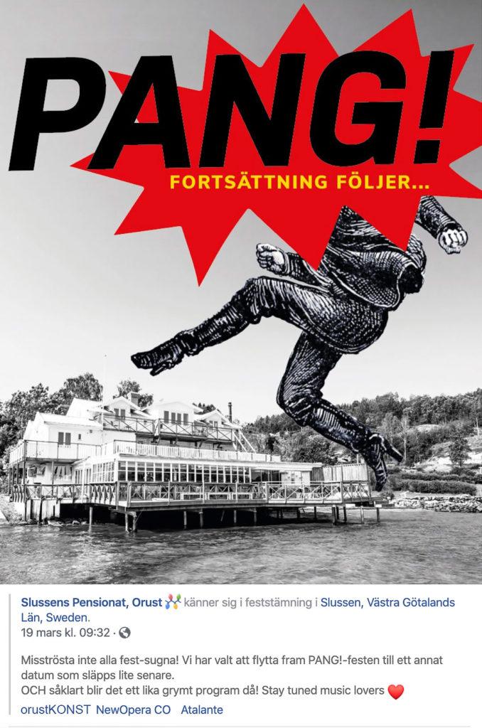 Pang!-festen, utskick från Facebook